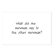 Lost Snowman Joke Postcards (Package of 8)