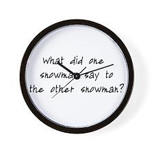 Lost Snowman Joke Wall Clock