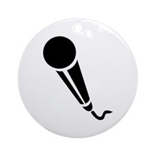 Microphone Ornament (Round)