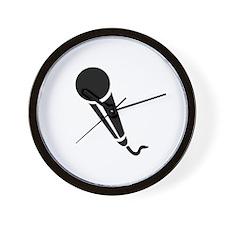 Microphone Wall Clock
