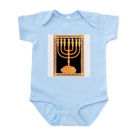 Golden Menorah Infant Creeper