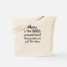 Alyssa is the Boss Tote Bag