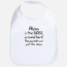 Alyssa is the Boss Bib