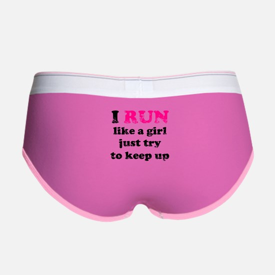 I run like a girl, just try t Women's Boy Brief