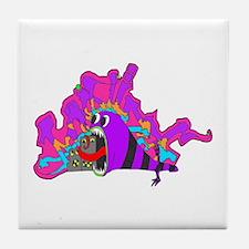 Monster Tagging Tile Coaster