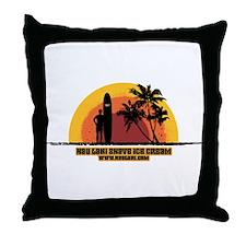 Endless Summer Surfer Throw Pillow