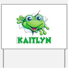 Kaitlyn Frog tearing out Yard Sign