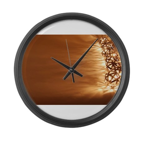 Ball Lights in a Line Large Wall Clock