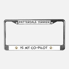 Co-pilot: Patterdale Terrier License Plate Frame