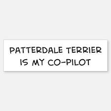 Co-pilot: Patterdale Terrier Bumper Bumper Bumper Sticker