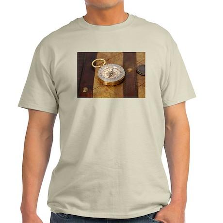 Compass on Luggage Light T-Shirt