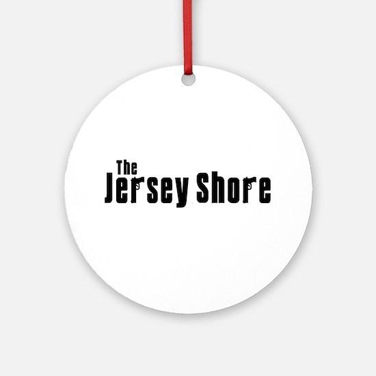 Jersey Shore Sopranos Black Ornament (Round)