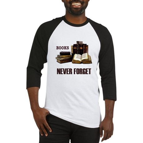 Never Forget Books Baseball Jersey