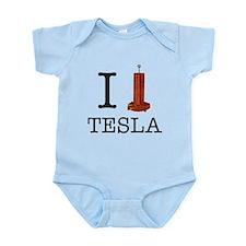 I (Heart/Coil) Tesla Infant Bodysuit