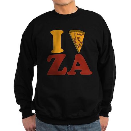 I (Heart/Slice) Za Sweatshirt (dark)