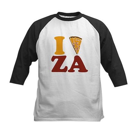I (Heart/Slice) Za Kids Baseball Jersey