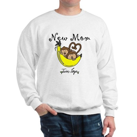 Monkeys Mom of Twin Boys Sweatshirt
