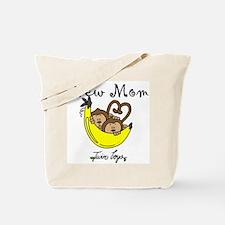 Monkeys Mom of Twin Boys Tote Bag