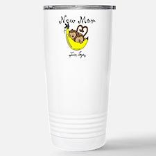 Monkeys Mom of Twin Boys Travel Mug