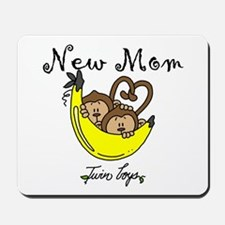 Monkeys Mom of Twin Boys Mousepad