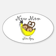 Monkeys Mom of Twin Boys Decal