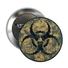 "Biohazard -Circle -dist 2.25"" Button"