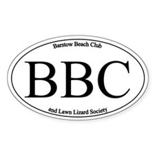 BBC Oval Decal