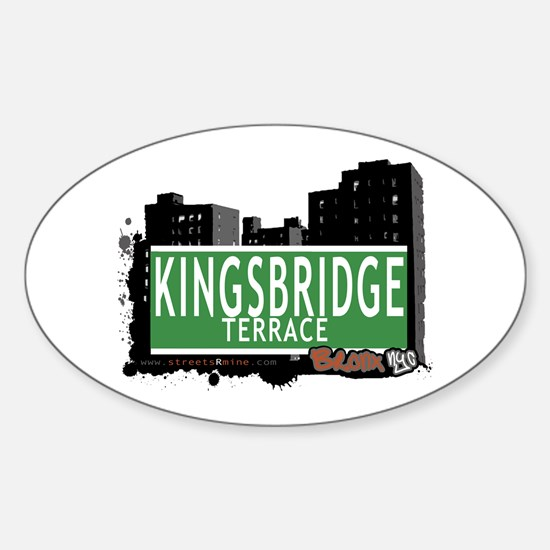 KINGSBRIDGE TER, Bronx, NYC Sticker (Oval)