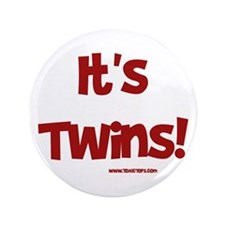 """It's Twins (Maroon) 3.5"""" Button"""