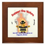 Fire Victims Support Framed Tile