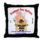 Fire Victims Support Throw Pillow
