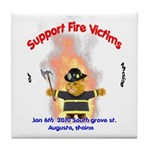 Fire Victims Support Tile Coaster