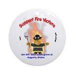 Fire Victims Support Ornament (Round)