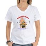 Fire Victims Support Women's V-Neck T-Shirt