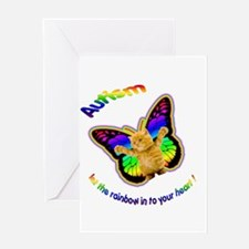 Autism let the rainbow in to Greeting Card