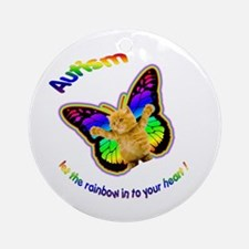 Autism let the rainbow in to Ornament (Round)