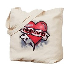 Edward Traditional Heart Tattoo Tote Bag