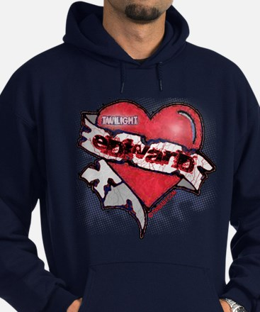 Edward Traditional Heart Tattoo Hoodie (dark)
