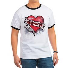 Edward Traditional Heart Tattoo T