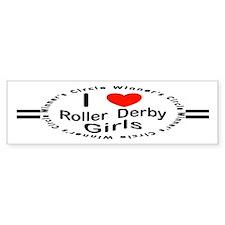 Roller Derby Bumper Bumper Sticker