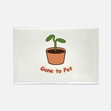Gone To Pot Rectangle Magnet
