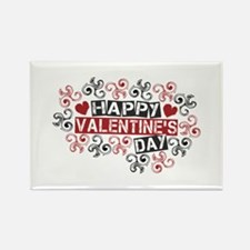 Happy Valentine's Day Rectangle Magnet (10 pack)