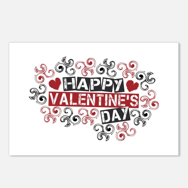 Happy Valentine's Day Postcards (Package of 8)