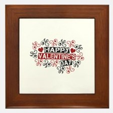 Happy Valentine's Day Framed Tile