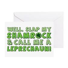 Slap My Shamrock/Call Me A Leprechaun Greeting Car