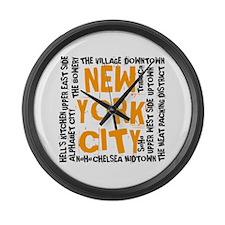 Cute New york city Large Wall Clock