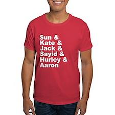 Oceanic Six Names Dark T-Shirt