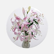 Lilies Large Ornament (Round)