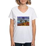 Fall Migration Women's V-Neck T-Shirt