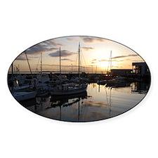 Boats at Sunset Horizontal Decal